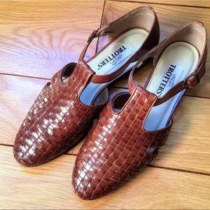 Vintage Trotters woven leather Lucille flats sz 9